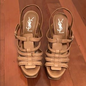 YSL Platform Sandals
